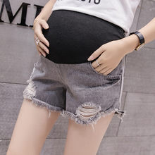 SAGACE Women's Short Pants pregnant women wearing loose shorts in loose summer holes Lady Pants Zipper Jeans Summer(China)