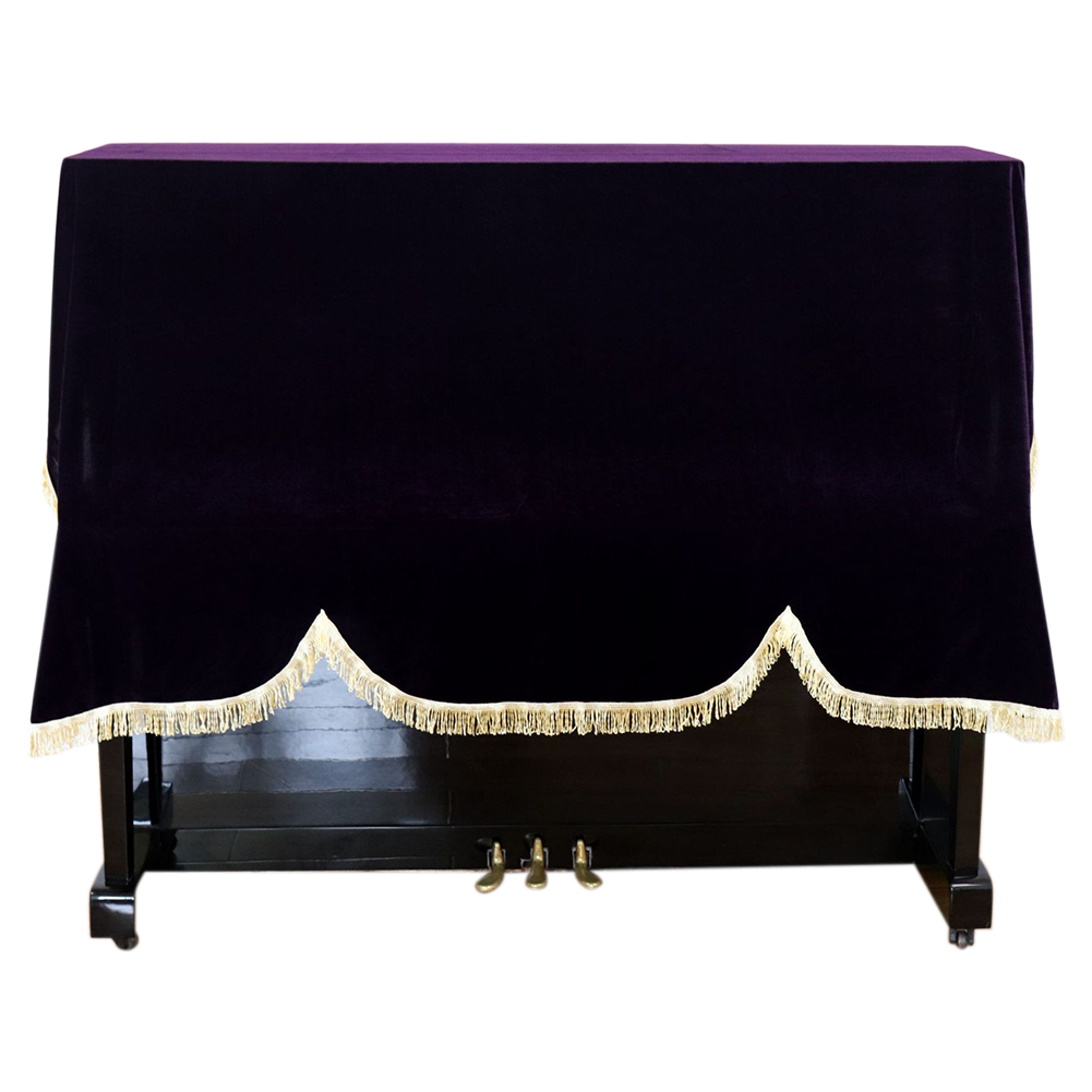 Foldable Soft Washable Gold Velvet <font><b>Piano</b></font> <font><b>Cover</b></font> <font><b>Dust</b></font> Proof Universal Keyboard Anti Scratch Home Upright Vertical Protective image