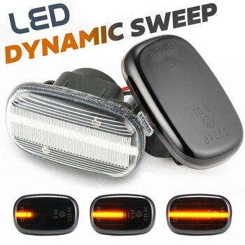 Indicador lateral dinámico Led luz intermitente para Toyota RAV4 Camry SV4 CV4 ACV30 Corolla E10/E11/E12 ZE120 Runx Alex Vios Celica