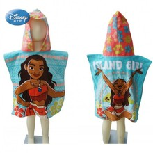 Disney Moana Cartoon Hooded Bath/Beach Towel Toddler Minnie Mickey Mouse Soft Towel Poncho for Boys Girls Swimming Class