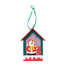 1PC Christmas Tree Hanging Ornaments Festival LED Light Wood Doll House Holiday Nice Xmas Gift Wedding Decoration kids Toys(China)