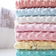 Zengia 150x50cm minky tecido de veludo ins artesanal diy inverno folha cama restante cobertor material antipilling tecido de pelúcia