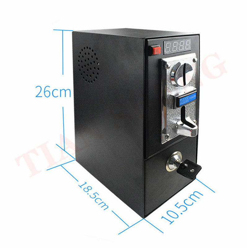 Coin Operated Timer Control Board Power Supply Box With Multi Coin Selector Acceptor Washing Machine Massage Chair Timer Board