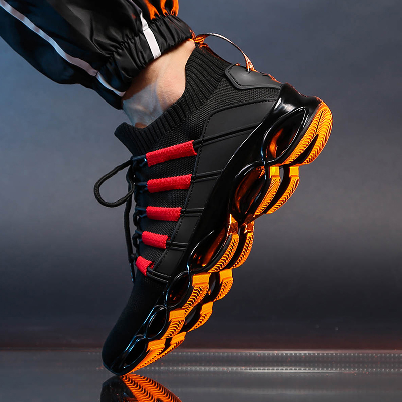 Damyuan 2019 Winter Hot Selling Fashion Comfortable Flying Weaving Man Sneakers Shock Absorbing Elevating Leisure Running Shoes