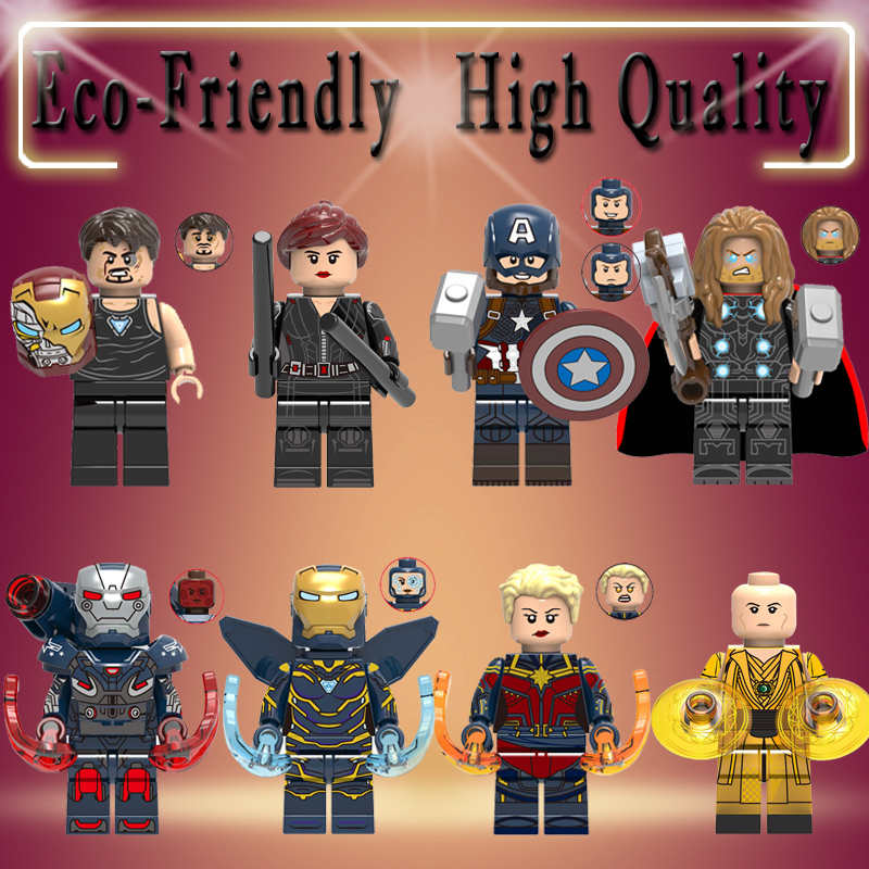 Super Heroes Thor Ancient One Pepper Captain America War Machine Diy Building Blocks Bricks Figure Toy For Children Gifts X0261