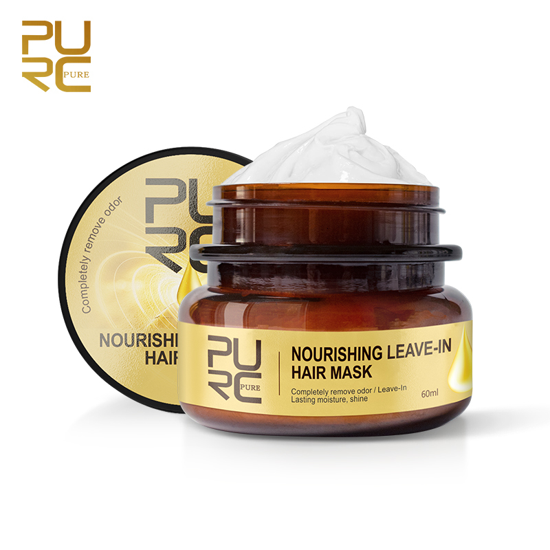 PURC Nourishing Leave-In Hair Mask Completely Remove Odor Lasting Moisture Shine Hair Treatment Repairs Frizzy Hair care 4