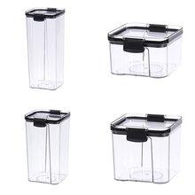 3 пластиковые контейнеры для еды с крышками фиксаторы 460 мл