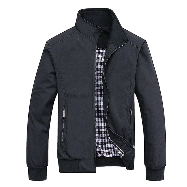 2021 Spring Autumn Casual Solid Fashion Slim Bomber Jacket Men Overcoat New Arrival Baseball Jackets Men's Jacket M-6XL Top 3