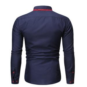 Image 5 - Новинка, мужская повседневная рубашка, высокое качество, сочетающиеся цвета, лацканы, длинный рукав, белая, светская, рубашка, тонкая, Мужская Уличная одежда, рубашка