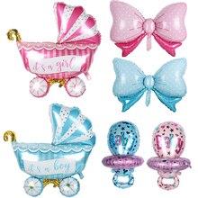 Baby Shower Boy Girl Balloons Pink/Blue Babyshower Foil Balloons It's a boy girl Event Party Gifts 1st Birthday Balloons globos