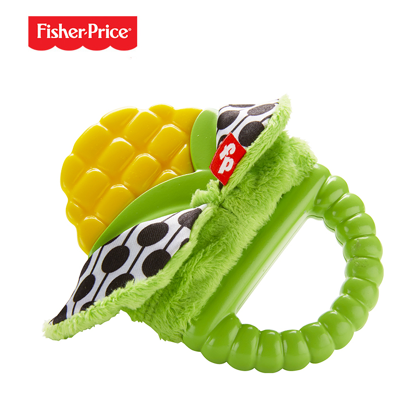 Fisher-Price Teether Tunes Corn Plant-Themed Teething Toy for Baby Ages 3 Months and Older Baby Grasp Toys