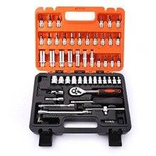 53pcs1/4-Inch Drive Socket Set, Car Repair Tool Ratchet Wrench Set