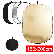 150×200cm 5 in 1 Handhold Portable Reflector Multi Disc Photography Studio Photo Oval Collapsible Light Diffuser Reflector