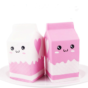 Kawaii Cute Soft Squishy Charms Milk Bag Toy Slow Rising Milk Box Kid Fun Gift for Adults Relieves Stress Anxiety Squeeze Toys цена 2017
