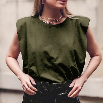 Summer Sleeveless Top Female O Neck White Women Blouse Shirt Ladies Loose solid Chic Casual Blouses