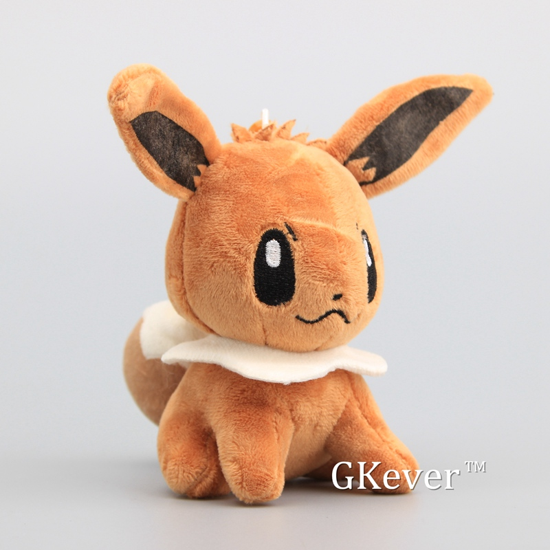 13cm Anime Eevee Soft Stuffed Animals Toy Japan Cartoon Pikachu Gengar Charmander Psyduck Series Toys Doll Baby Kids Gift