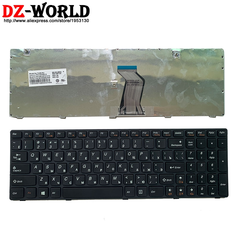 New Original Russian Keyboard For Lenovo G580 Z580A G585 Z585 G590 N580 N581 N585 Laptop Teclado 25208215 25208125 25208035