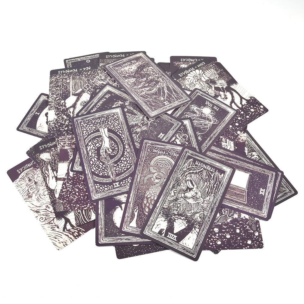 Newest 79Pcs Light Visions Tarot Tarot Cards English Version Deck Funny Family Board Game Playing Game Cards Party Games