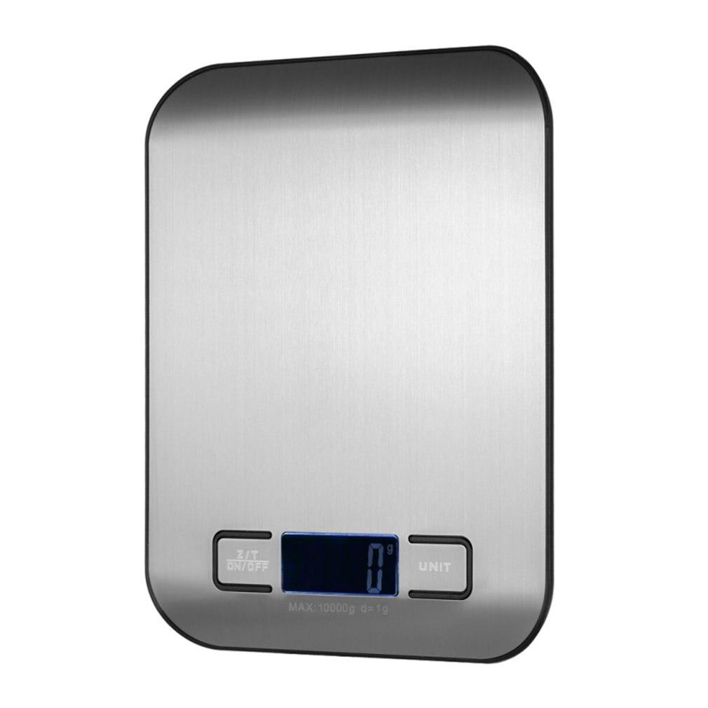 Balança de cozinha de aço inoxidável eletrônico pesando 5kg 10kg escala de cozinha do agregado familiar alimentos mini gram escala jóias disse