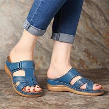 DAHOOD Summer Women Flat Sandals 2019 New Solid Buckle Ladies Slides Comfortable