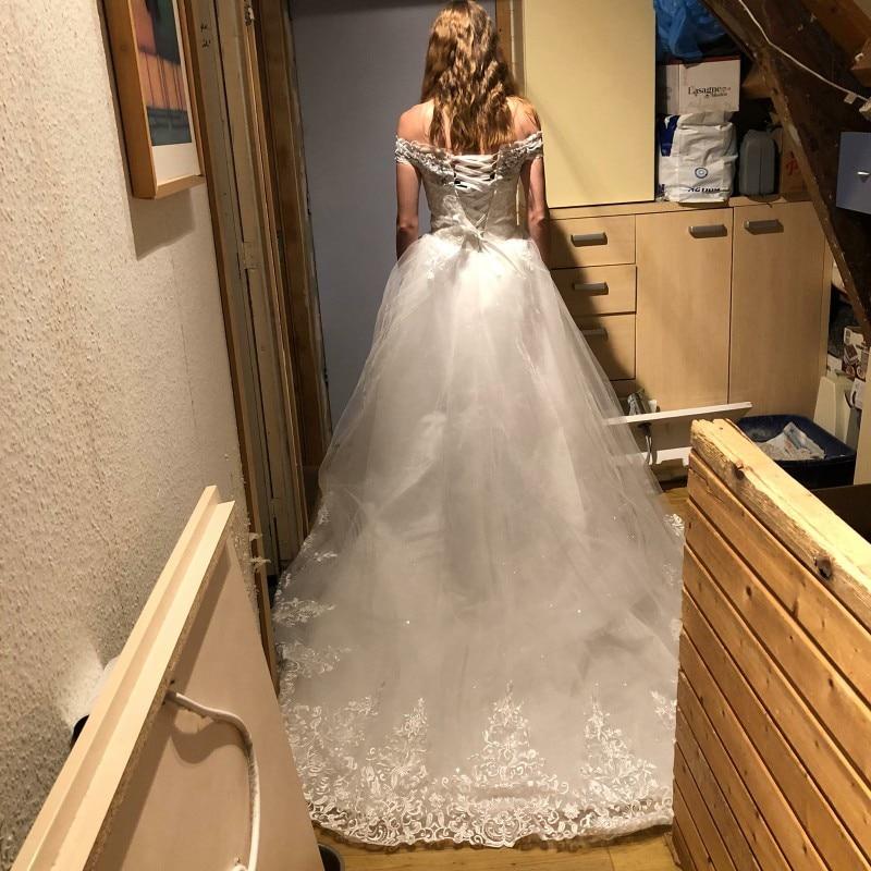 Top SaleWedding-Dresses Embroidery Lace Discount Long-Train Bride Elegant Plus-Size Luxury Sweetheart