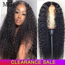 Perruque Lace Frontal Wig frisée naturelle, cheveux humains, 13x4, naissance des cheveux naturelle, pre-plucked, pour femmes africaines