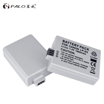 цена на PALO 7.4V 1800mAh LP-E5 LPE5 LP E5 Camera battery pack for Canon EOS Rebel XS rebel T1i rebel XSi 1000D 500D 450D L10