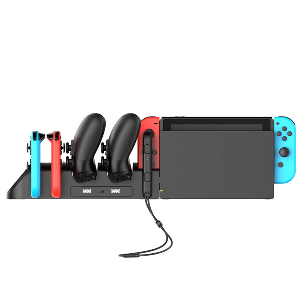Portable 6 In 1 Charging Dock Cradle Stand Controller Charger Station For Nintend Switch Joy Con And NS Pro Controller