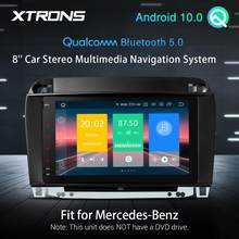 مشغل راديو للسيارة طراز XTRONS بشاشة مقاس 8 بوصات وبلوتوث كوالكوم 5.0 ونظام تشغيل أندرويد 10.0 ونظام تحديد المواقع لسيارات بنز S-Class W220 S280 S320 S350 S400 S430 ...