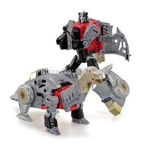 Image 5 - Robot de figurine 5 en 1, jouets de Transformation Dinoking volcanus Grimlock, boue, snarm Swoop slash Dinobots 5 en 1