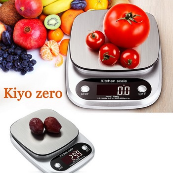 3/5/10kg 0.1/1g Kitchen Digital Food Scale Highly Weighing Food Scale Household Balance Cooking Measure Tool image