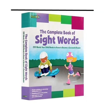 Complete Book of Sight Words Children's English words original picture book exercise book