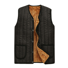 Men Fleece Vests Winter Autumn Warm Quilted Waistcoat Male Casual Black Puffer Outerwear Single Breasted Puff Padded 3XL