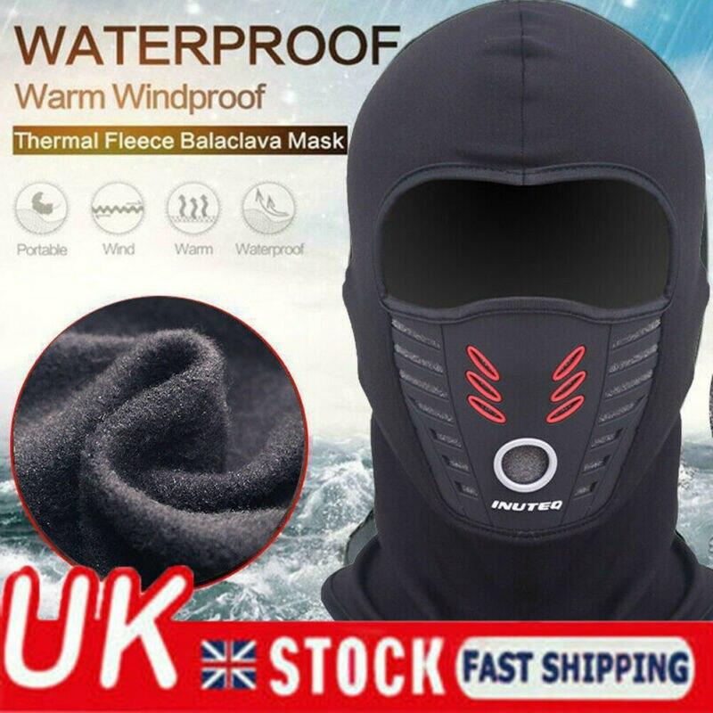 HOT Winter Breathable Warm Outdoor Full Face Mask Waterproof Windproof Motorcycle Bike Thermal Fleece Balaclava Face Mask Helmet