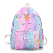 Fresh Style Women Backpacks Floral Print Bookbags Canvas Backpack School Bag For Girls Rucksack Female Travel Backpack perilla brand small backpack travel bag unisex school bag for teenage students backpacks rucksack bookbags cool urban backpack