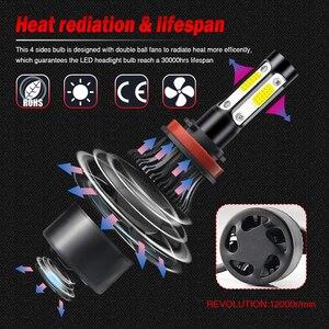 Image 2 - /HL/ LED Headlight Bulbs for Cars H4 H7 H8 H11 HB3 HB4 8000LM 6500K 40W 24V 12V H7 LED Kit Auto Lamp H4 Motorcycle HeadLight