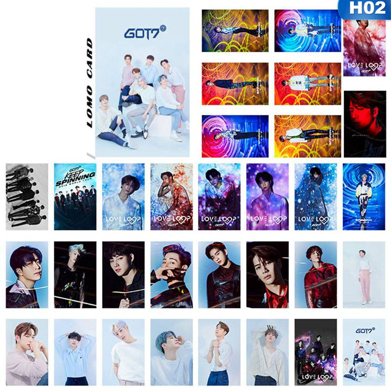 32Pcs/Set KPOP GOT7 LOVE LOOP Album Made Paper Poster Photo Card Lomo Card Photocard Fans Gift Collection Stationery Set