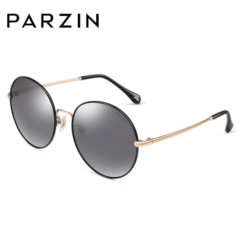 PARZIN Retro Round Sunglasses Metal Frame Polarized TAC Lenses Sunglasses For Summer Driving High Quality Coating Mirror Glasses
