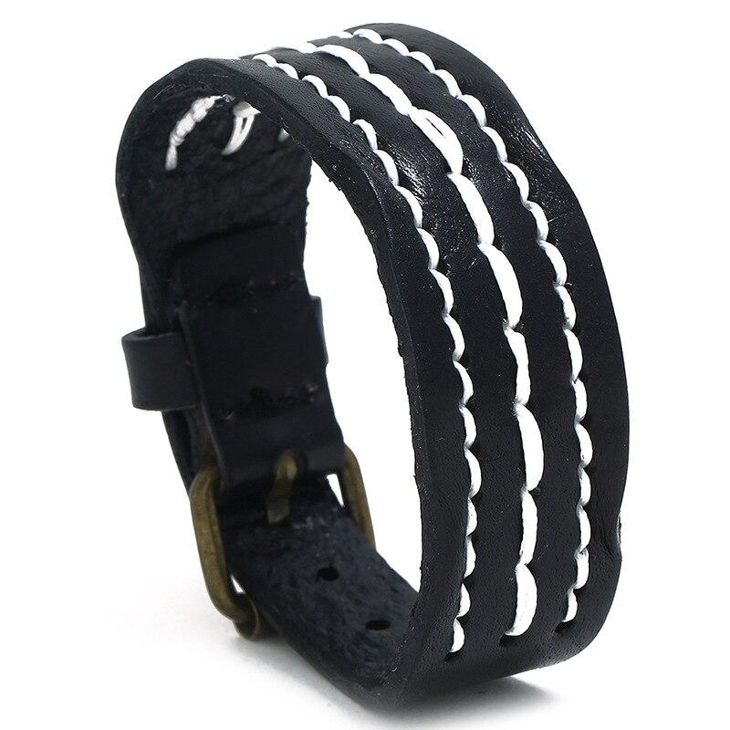leather bracelet for men P01893-1