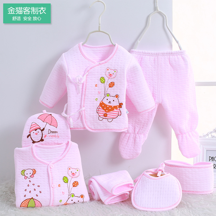 New Style Clothes For Babies Pure Cotton Warm Newborns Newborn Baby 0-3 Month Seven Sets Gift Box
