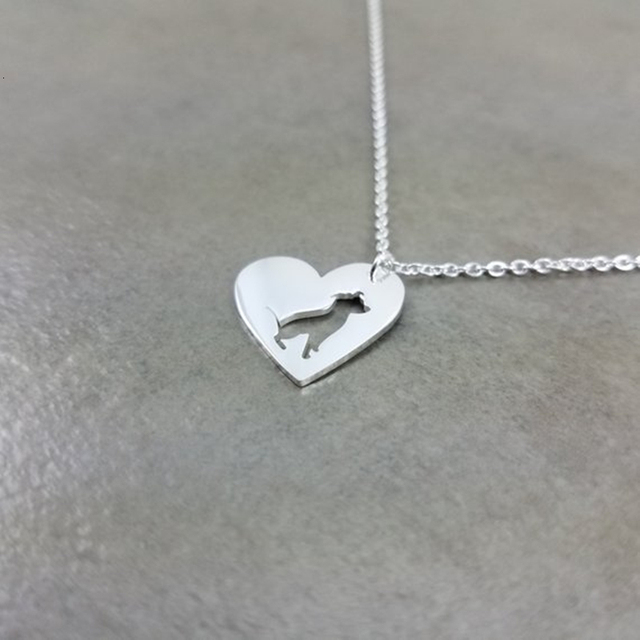 Dog Heart Necklace  1