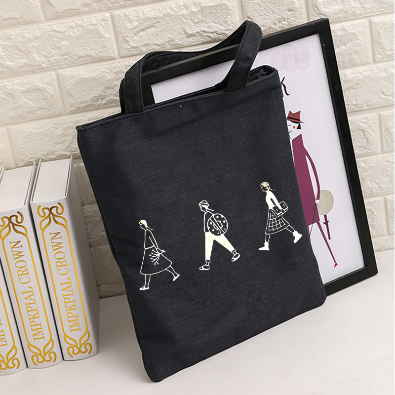 Bags For Women 2019 Ladies Handbags Cloth Canvas Tote Bag Cotton Travel Women Eco Reusable Shoulder Shopper Bags Single Shopping