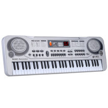 Электронная фортепианная клавиатура светодиодный музыкальная игрушка с микрофоном 61 клавиша Профессиональная детская музыкальная клавиатура инструмент подарок для детей
