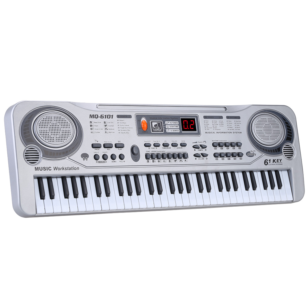 LED Music Toy With Microphone 61 Keys Electronic Keyboard Piano Professional Musical Educational  Instruments Gift For Children
