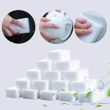 20/40/60/100 pces branco melamina cleaner borracha para cozinha banheiro acessório limpo espuma limpeza almofada prato limpeza