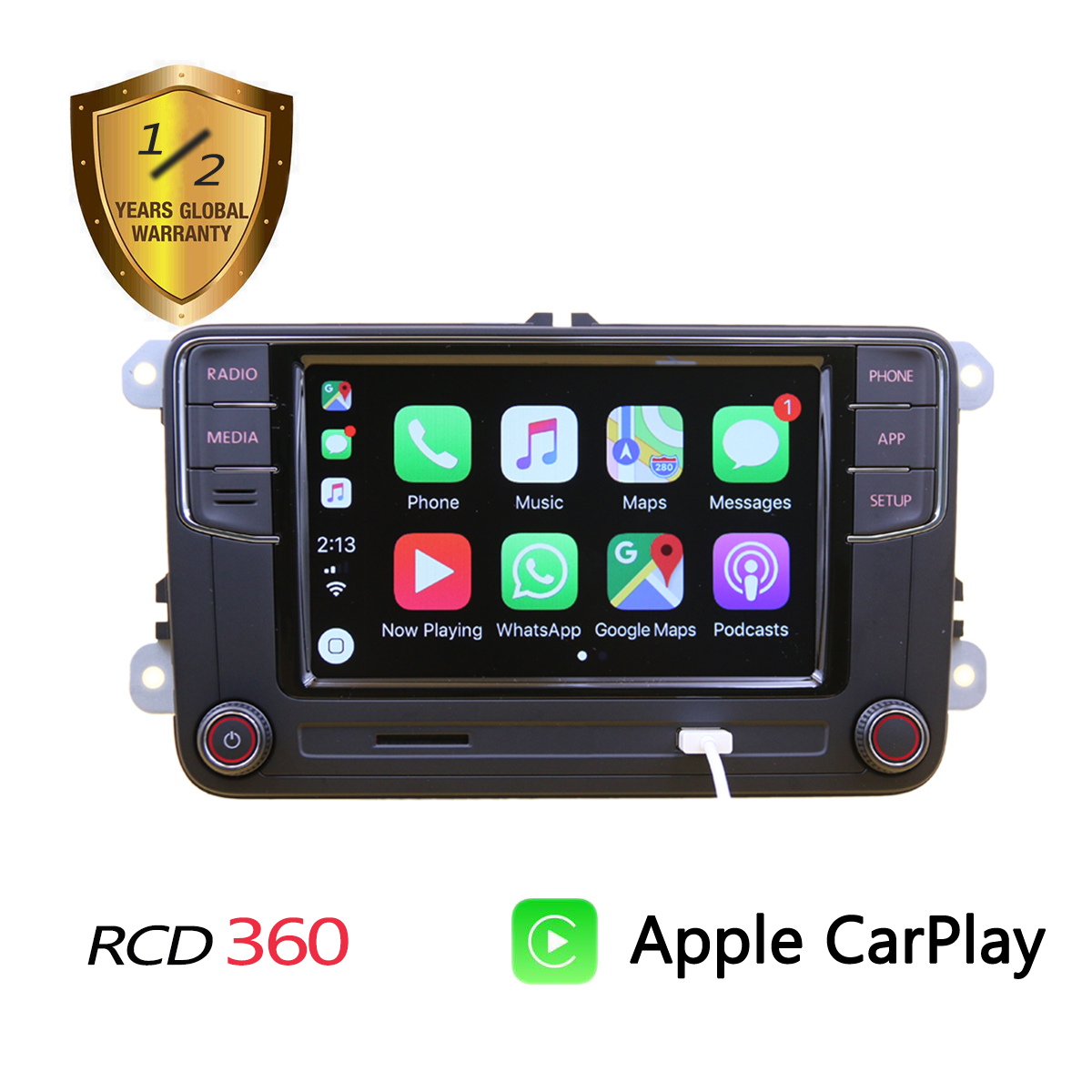 Polo Mib-Radio Rcd360 Carplay Spanish Jetta Tiguan 6RD035187B Passat B6 Golf 5 for 6/Jetta/Mk5/.. title=