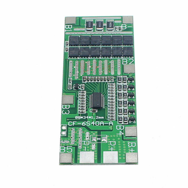 6S 22V24V 40A BMS Board Lithium Battery Protection Board Solar Lighting Integrated BMS With Balancing