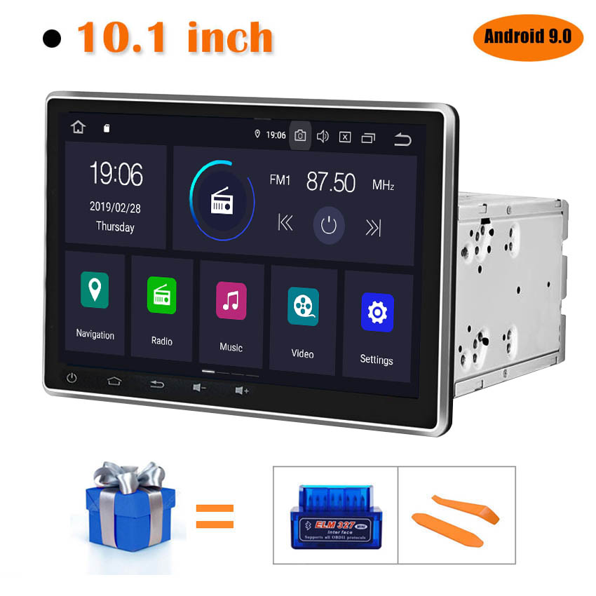 KANOR Android 9.0 Octa Core 4g+64g 10.1 Inch IPS 2 Din Car GPS DVD Player Bluetooth Stereo Autoradio 2din Car Radio Multimedia