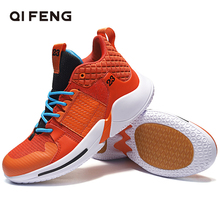 Summer Basketball Shoes Men Sneakers Children Basket Shoes Red High Top Sports Shoes Trainers Women Mesh Basketball Shoes Boys cheap QIFENG Medium(B M) Cotton Fabric 116++5 ForMotion Lace-Up Spring2019 Fits true to size take your normal size Culture TOTEM