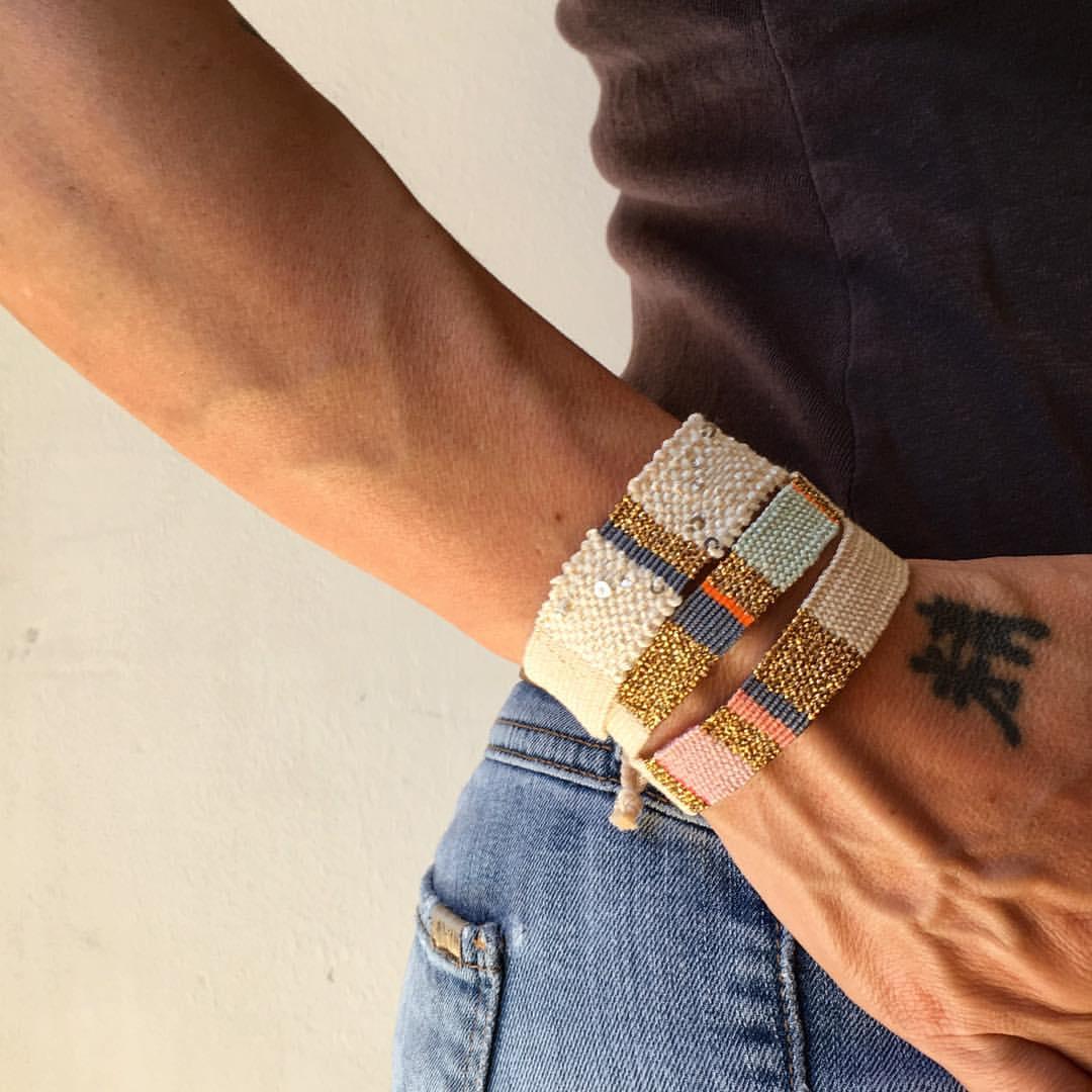 Go2boho 2021 nova amizade pulseira tecido pano trançado pulseiras para mulheres presente jóias handwoven borla padrão bangle